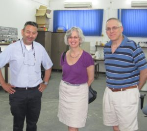 Prof. Dan Blumberg with Amy Klein and Brian Lefsky during their most recent visit to BGU