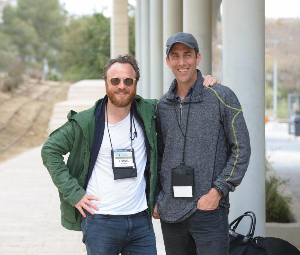Zin fellows, Yuval Chiprut and Jeff Polak, visiting Ben-Gurion University of the Negev