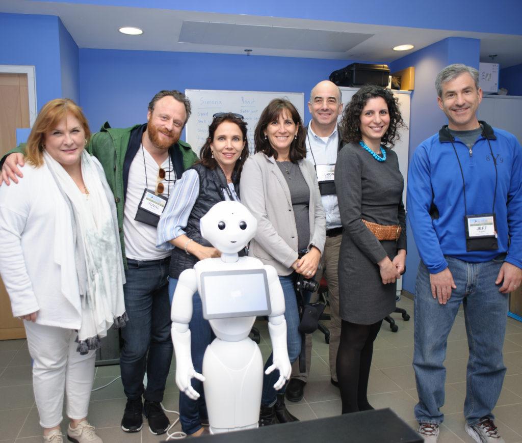 Zin fellows; Barbara Baliff, Yuval Chiprut, Mytyl Simancas, Julie Savitch and Jeff Kupfer visiting Dr. Shelley Levy Tzedek's lab at BGU